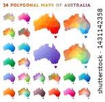 set of vector polygonal maps of ... | Shutterstock .eps vector #1431142358
