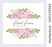 floral frame wedding invitation ...   Shutterstock .eps vector #1431145565