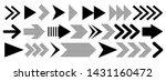 set of black vector arrows...   Shutterstock .eps vector #1431160472