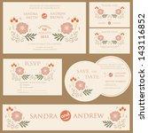 beautiful vintage wedding... | Shutterstock .eps vector #143116852