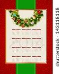 2014 new year calendar vector... | Shutterstock .eps vector #143118118