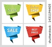 set of web banners for sales... | Shutterstock .eps vector #1431194405
