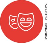drama theater masks outline icon | Shutterstock .eps vector #1431196592