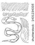 snake and wing mysterial order... | Shutterstock .eps vector #1431234335