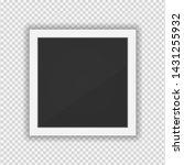 polaroid photo frame. square... | Shutterstock .eps vector #1431255932