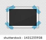 polaroid photo frame. square... | Shutterstock .eps vector #1431255938