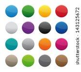 blank round buttons. vector... | Shutterstock . vector #143125672
