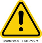 hazard warning attention sign... | Shutterstock .eps vector #1431290975