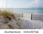 Landscape Of Dunes  Beach And...