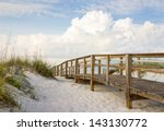Inviting Boardwalk Through The...