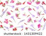 flowers composition. pattern... | Shutterstock . vector #1431309422