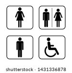 wc symbols icons in flat style | Shutterstock .eps vector #1431336878