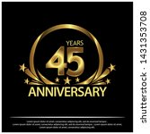 forty five years anniversary... | Shutterstock .eps vector #1431353708