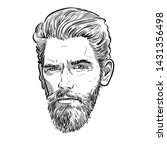bearded stylish man portrait....   Shutterstock .eps vector #1431356498