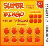 lottery ticket vector lucky... | Shutterstock .eps vector #1431359522