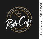 vintage logo for restaurant... | Shutterstock .eps vector #1431394568