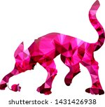 pink cat on white  isolated... | Shutterstock .eps vector #1431426938