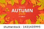 autumn sale background with... | Shutterstock .eps vector #1431435995