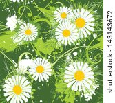 summer floral background ... | Shutterstock .eps vector #143143672