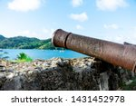 Old Cannon Pointed At The Ocean ...