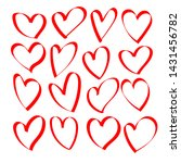 red heart hand drawn icons set... | Shutterstock .eps vector #1431456782