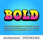 bold cartoon font effect with... | Shutterstock .eps vector #1431461462