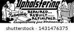 upholstering 2   retro ad art...   Shutterstock .eps vector #1431476375