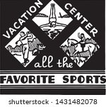 vacation center   retro ad art... | Shutterstock .eps vector #1431482078