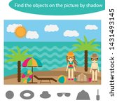 find the objects by shadow ... | Shutterstock .eps vector #1431493145