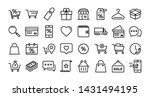shopping line icons. present... | Shutterstock .eps vector #1431494195