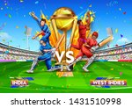 illustration of batsman player... | Shutterstock .eps vector #1431510998