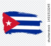 flag of cuba from brush strokes....