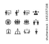 businessman management icon set ... | Shutterstock .eps vector #1431557108