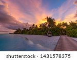Sunset On Maldives Island ...