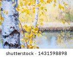Autumn Landscape. Birch Tree...