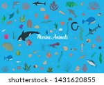 fishes and marine plants....   Shutterstock .eps vector #1431620855
