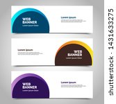 abstract vector banners.modern... | Shutterstock .eps vector #1431633275