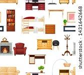 furniture vector furnishings... | Shutterstock .eps vector #1431642668