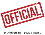 official rubber stamp. official ... | Shutterstock .eps vector #1431645062
