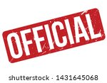 official rubber stamp. official ... | Shutterstock .eps vector #1431645068
