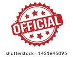 official rubber stamp. official ... | Shutterstock .eps vector #1431645095
