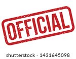 official rubber stamp. official ... | Shutterstock .eps vector #1431645098