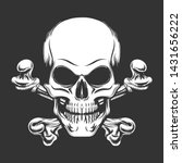 human skull with crossed bones... | Shutterstock .eps vector #1431656222