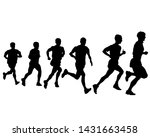 people athletes on running race ... | Shutterstock . vector #1431663458