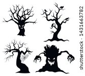 set of tree silhouettes for... | Shutterstock .eps vector #1431663782