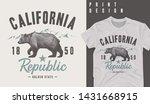 graphic t shirt design...   Shutterstock .eps vector #1431668915