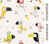 seamless childish pattern with... | Shutterstock .eps vector #1431669818