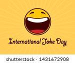 international joke day vector.... | Shutterstock .eps vector #1431672908
