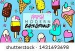 summer. fresh modern background.... | Shutterstock .eps vector #1431693698