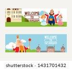 cartoon kingdom vector king... | Shutterstock .eps vector #1431701432